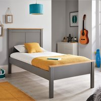 Wooden Bed Frame 3ft Single Vigo Grey and Oak