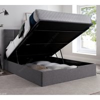 Whitburn Grey Fabric Ottoman Storage Bed Frame Only - 5ft King Size
