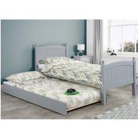 Whitehaven Grey Wooden Guest Bed Frame - 3ft Single