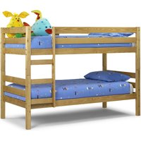 Wyoming Antique Solid Pine Wooden Bunk Bed Frame - 3ft Single