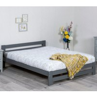 Xiamen Grey Wooden Bed Frame Only - 4ft6 Double