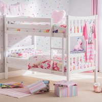 Zodiac White Wooden Bunk Bed Frame Only - 3ft Single