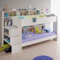 Bibop White Wooden Bunk Bed Frame Only - EU Single