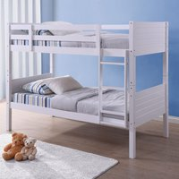 Bedford White Wooden Bunk Bed Frame - 3ft Single