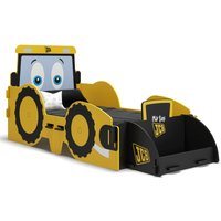 JCB Yellow Children's Digger Toddler Bed Frame - 70 x 140 cm