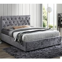 Cologne Steel Fabric Bed - 5ft King Size