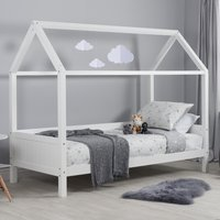 Home White Wooden Treehouse Bed Frame - 3ft Single
