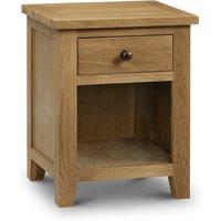 Marlborough Oak 1 Drawer Bedside Table