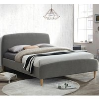 Quebec Grey Fabric Bed - 4ft6 Double