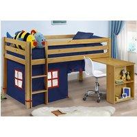 Mid Sleeper 3ft Single Kids Storage Desk Bed