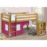 Fabric Mid Sleeper Storage Bed Frame 3ft Single