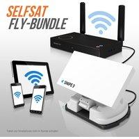 Selfsat SNIPE V3 FLY 100-Bundle - White Line - Single - Vollautomatische Sate...
