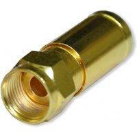 Kompressionstecker Gold für Kabel-Ø 6,8-7,20mm Vollmetall