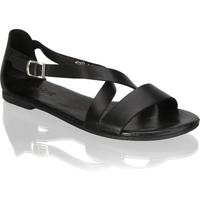Fraiche Glattleder Klassische Sandalen schwarz