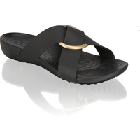 Crocs SERENA CROSS BAND SLIDE W schwarz