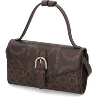 Calvin Klein WALLET MINI BAG W/FLAP MONO SCL braun