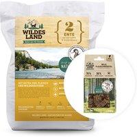 12 kg   Wildes Land   Aktionspaket: Trockenfutter 12kg + Fleischwürfel 100g geschenkt   Trockenfutter   Hund
