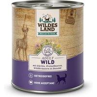 24 x 800 g | Wildes Land | Wild mit Kürbis, Preiselbeeren, Wildkräutern und Distelöl Classic Adult | Nassfutter | Hund