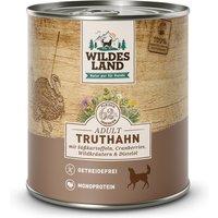 24 x 800 g | Wildes Land | Truthahn mit Süßkartoffel, Cranberries, Wildkräutern und Distelöl Classic Adult | Nassfutter | Hund