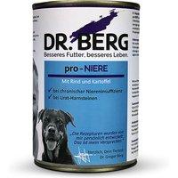 12 x 400 g | Dr. Berg Tiernahrung | pro-NIERE mit Rind und Kartoffel Diät | Nassfutter | Hund