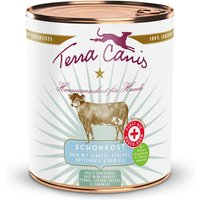 800 g | Terra Canis | Schonkost Kalb mit Karotte, Fenchel, Hüttenkäse und Kamille First Aid | Nassfutter | Hund