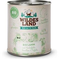 24 x 800 g   Wildes Land   Lamm mit Kartoffeln BIO Adult   Nassfutter   Hund