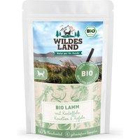 40 x 125 g | Wildes Land | Lamm mit Kartoffeln BIO Adult | Nassfutter | Hund