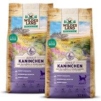 2 x 12 kg | Wildes Land | Kaninchen mit Kartoffeln und Wildkräutern Classic Adult | Trockenfutter | Hund