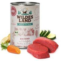 12 x 400 g | Wildes Land | Rind mit Kartoffeln BIO Adult | Nassfutter | Hund