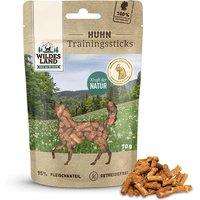 8 x 70 g | Wildes Land | Huhn Trainingssticks | Snack | Hund