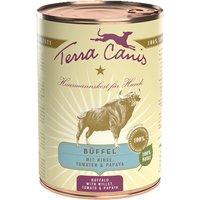 6 x 400 g   Terra Canis   Büffel mit Hirse, Tomaten & Papaya  Classic   Nassfutter   Hund