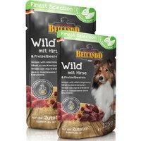 6 x 125 g | Belcando | Wild mit Hirse & Preiselbeeren Finest Selection | Nassfutter | Hund