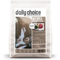1,5 kg | daily choice | mit Wild, Reis und Erbsen Basic | Trockenfutter | Hund