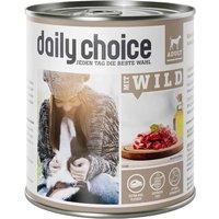 12 x 800 g | daily choice | mit Wild | Nassfutter | Hund
