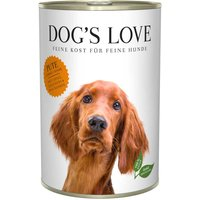 6 x 800 g | Dog's Love | Pute mit Apfel und Zucchini Classic | Nassfutter | Hund