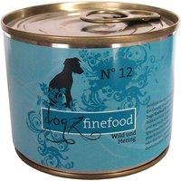 12 x 800 g   Dogz FineFood   No.12 Wild & Hering Classic   Nassfutter   Hund