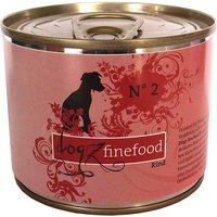 6 x 200 g | Dogz FineFood | No.2 Rind Classic | Nassfutter | Hund
