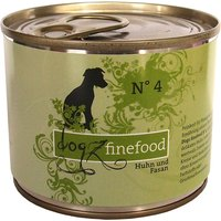 12 x 800 g | Dogz FineFood | No.4 Huhn & Fasan Classic | Nassfutter | Hund