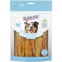500 g | DOKAS | Hühnerbrust in Streifen Fleisch in Stückchen | Snack | Hund