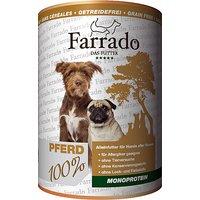 12 x 400 g   Farrado   Pferd Single Protein   Nassfutter   Hund