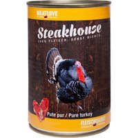 6 x 400 g   Fleischeslust   Pute Pur Steakhouse   Nassfutter   Hund