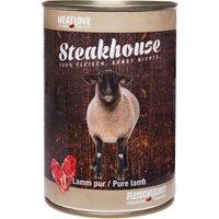 6 x 400 g | Fleischeslust | Lamm Pur Steakhouse | Nassfutter | Hund