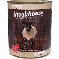 24 x 800 g | Fleischeslust | Lamm Pur Steakhouse | Nassfutter | Hund