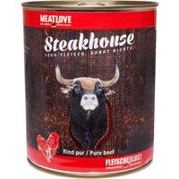 24 x 400 g | Fleischeslust | Rind Pur Steakhouse | Nassfutter | Hund