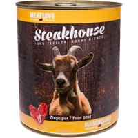 24 x 800 g | Fleischeslust | Ziege Pur Steakhouse | Nassfutter | Hund