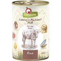 12 x 400 g | GranataPet | Rind Liebling's Mahlzeit PUR | Nassfutter | Hund