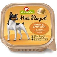 22 x 150 g | GranataPet | Huhn & Garnelen mit Kürbis, Basilikum und Leinöl Mini Royal | Nassfutter | Hund