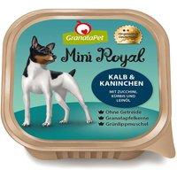 22 x 150 g | GranataPet | Kalb & Kaninchen mit Zucchini, Kürbis und Leinöl Mini Royal | Nassfutter | Hund