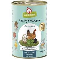 12 x 400 g | GranataPet | Huhn & Pastinaken Liebling's Mahlzeit | Nassfutter | Hund