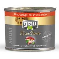 24 x 200 g   grau   Adult Rind, Geflügel & Gemüse Excellence   Nassfutter   Hund